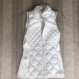 White lululemon Quilted Vest